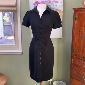 Vintage Calvin Klein buttondown sheath dress black